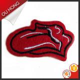 Etiqueta tecida do bordado do vestuário da roupa remendo barato pequeno bonito