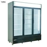 Migliore dispositivo di raffreddamento verticale di vendita della visualizzazione dei tre portelli con il dispositivo di raffreddamento della bibita analcolica di alta qualità