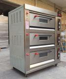 Hongling 3 Tellersegment-Gas-Handelspizza-Ofen der Plattform-6 für Verkauf