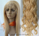 24inch Virgin brasiliano Hair Body Wave 613# Blonde Full Lace Wig