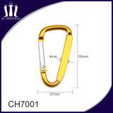 Kundenspezifische Förderung-flacher Metallschlüsselkette Carabiner Haken