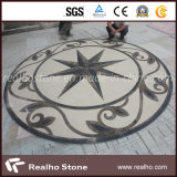 Reticolo/medaglione rotondi del getto di acqua della pietra del marmo di disegno della stella per la pavimentazione