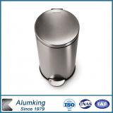 ごみ箱またはゴミ箱または灰缶のためのアルミニウムコイル