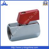 Bonne vanne à bille à basse pression en laiton poli (YD-1036)