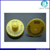 De Markering van het Oor RFID met de Druk van het Serienummer voor het Dierlijke Volgen