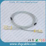 Sc-Sc mm gepanzerte Faser-Optikkabel-Duplexsteckschnür