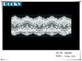 Testi fissi di nylon del merletto del jacquard bianco per la larghezza 16.5cm della biancheria intima