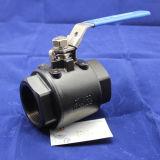 válvula de esfera do aço de carbono 2000wog 2PC