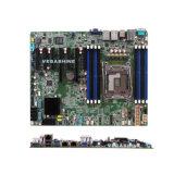 Cartão-matriz do server do processador central 10 SATA3.0 NVR da série de Xeon-E5 V3 Onboard 7 PCI-E