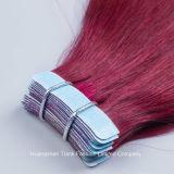 """26 """" il bianco dei capelli di Remy di estensione dei capelli del nastro dei capelli 40PCS di colore rosso incolla"""