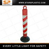весны PE столба Delineator 80cm столб гибкой отражательной пластичной предупреждающий