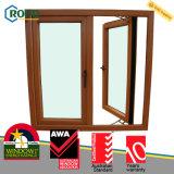 Finestra di vetro lustrata standard della stoffa per tendine dell'Australia doppia UPVC/Pvcu del membro di Awa