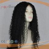 De lang Maagdelijke Menselijke Zwarte Pruik van het Kant van de Krullen van Afro van het Haar Remy Volledige