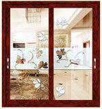 Раздвижная дверь нового нутряного деревянного цвета 2016 стеклянная алюминиевая