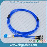 LC-FC Sm 이중 기갑 광섬유 접속 코드