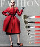 Escova vermelha da composição do uso da face da qualidade superior da senhora 8PCS
