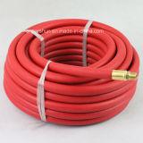 """tuyaux d'air en caoutchouc de rouge de X 25FT de 1/2 """" avec des extrémités de 1/2 """" Mpt"""