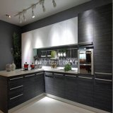 Glatte schwarze weiße hölzerne Tür-PVC-Folie