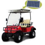 2 Seater levantado buscando el cochecillo con el cargo de Storge y el panel solar