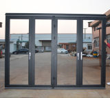 Дверь складчатости термально пролома высокого качества Kz338 алюминиевая