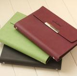 Caderno Loose-Leaf com fechamento magnético, caderno com páginas substituíveis, caderno do negócio da alta qualidade