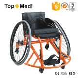 Equipamiento médico Sports Wheelchair Basketball Aluminum Wheelchair de Topmedi para Basketball Guard