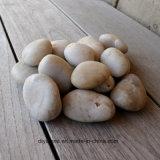 Pedra branca do rio natural para a decoração