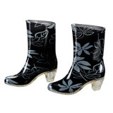 Damen und Fashion hoher Absatz Rainboots, Rain Shoes