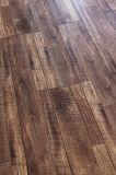 Suelo laminado raspado mano del laminado de madera del entarimado del arce del tablón del vinilo
