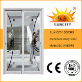 Photos de porte coulissante en aluminium couleur poudre blanche (SC-AAD018)