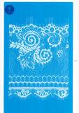 Tessuto elastico del merletto per vestiti/indumento/pattini/sacchetto/caso M025 (larghezza: 8cm)