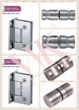 Inox 304 SSS 5mmの固体90度のガラスドアヒンジ(GSH-001A)
