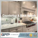 Bancada branca agradável/Benthtop do mármore da cozinha para a casa de campo/o apartamento/casa residenciais