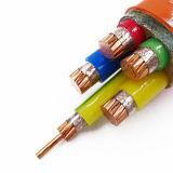 Câble ignifuge flexible engainé intérieur de cuivre de gaine extérieure en plastique de LSZH