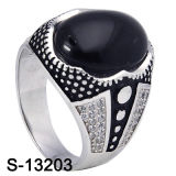 925 Sterling Silver Micro Setting Men Ring mit Stone