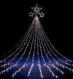 LEDの滝のカーテンはホテルの市場のショッピングモールの装飾をつける