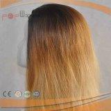 La bella oscurità bionda di colore di miscela sradica la parrucca superiore di seta delle donne