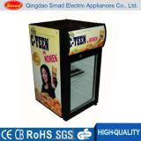 Supermercado de vidro para mesa de mesa Mini refrigerador de mesa