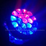 indicatore luminoso capo mobile della fase di 19PCS RGBW LED con il grande occhio dell'ape