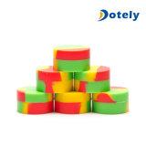 Conteneurs multi assortis de TAPE de silicones de choc de mémoire d'utilisation de pétrole de cire de couleurs réglés