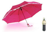 点Print&Skirt 3本のフォールドの自動車の開いた傘(YS-3FA22083280R)