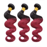 """22 """" capelli 1 b di estensione ss 3bundles Ombre dei capelli umani/# rosso scuro"""