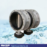 "Volles 304/304L 3 "" Flange Concentric/Single Offset Butterfly Valve"