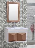 Armário de banheiro impermeável fixado na parede simples com espelho