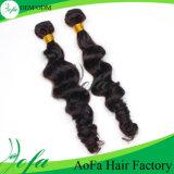черноты девственницы шикарного типа путать 7A волосы Remy свободно волнистые