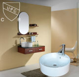 Modern Round Ceramic Lavatory Counter Top Art Basin (SN103)