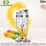 Neuf bouteille électrique en plastique de dispositif trembleur du vortex 450ml, bouteille électrique de dispositif trembleur de protéine (HDP-0824)