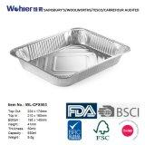 미트 로프를 위한 음식 급료 알루미늄 호일 굽기 콘테이너 또는 쟁반 중간 크기 장방형