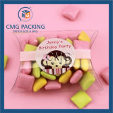 Transparenter Belüftung-Süßigkeit-Kissen-Verpackungs-Plastikkasten (CMG-PVC-013)