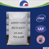 La fábrica suministró el cloruro amarillo leve del magnesio de las escamas del 46%